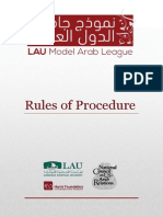Rules of Procedure for the MAL