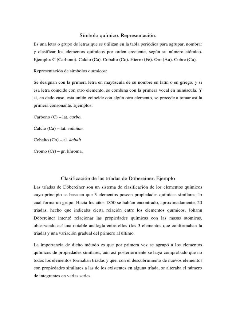 Tabla peridica smbolos qumicos clasificaciones dbereiner tabla peridica smbolos qumicos clasificaciones dbereiner newlands urtaz Image collections