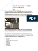 Sony Uses Kaizen