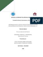 Determinacion de La Estructura de Financiamiento Optima Para