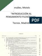 González, Moisés Introduccion Al Pensamiento Filosófico