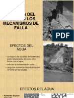 Efectos Del Agua en Los Mecanismos de Falla