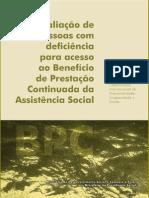 Avaliaçao de Pessoas Com Deficiencia Para o BPC