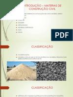 Introdução – Materias de Construção Civil