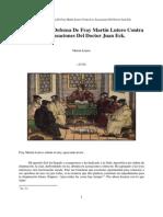 1519a Disputa y Defensa Contra Las Acusaciones Del Dr Eck (Antes de La Disputa de Leipzig)