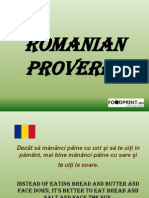 Romanian Proverbs