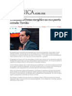 17-06-2014 Crónica.com.mx - El análisis del tema energético no es a puerta cerrada, Treviño.