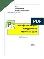Manajemen Proyek Menggunakan Ms Project 2010