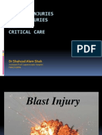 Blast Injury and Critical Care