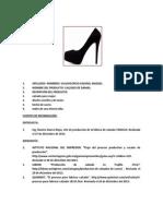 Elaboracion de Calzado Para Damas