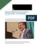 16-06-2014 Grupo Fórmula - Diputados PRD reiterarán su negativa a privatizar Pemex . Con Paola Rojas .