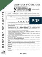 M25 - Agente de Atividades Administrativas - V