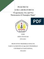 F05112011 RIZKA HASANAH Evaporimeter, Dry and Wet Thermometer, Penangkar Hujan