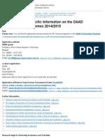 DAAD - Country-specific Information on the DAAD Scholarship Programmes 2014_2015 - DAAD - Deutscher Akademischer Austausch Dienst