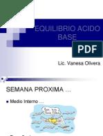 Equilibrio Acido Base, Clase III, Enfermeria Gral II