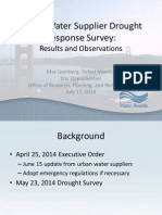 California Drought Response Survey