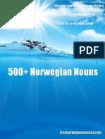 500 Norwegian Nouns