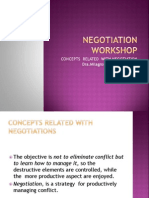 Concepts Related With Negotiation.