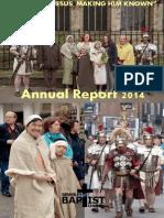 Beverley Baptist Church Annual Report 2014
