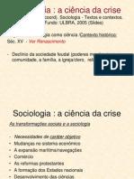 Sociologia a Ciaancia Da Crise