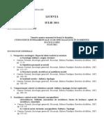 Tematica Licenta Sociologie Iulie 2011