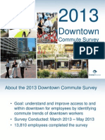 Downtown District Commute Survey