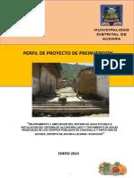 Nuevo Perfil Tecnico Agua y Desague de Santa Ana de Aucara y Chacralla 2014