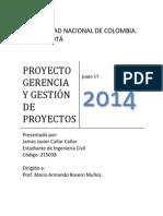 Documento Proyecto Gerencia y Gestión de Proyectos - James Cañar
