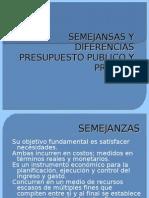 SEMEJANSAS Y DIFERENCIAS de las finanzas publicas y privadas