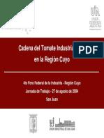 Cadena Del Tomate Industrializadoen La Región Cuyo