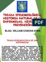 Triada Epidemiológica, Proceso Salud-Enfermedad, Niveles de Prevención