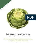 Recetario hermanamiento alcachofa