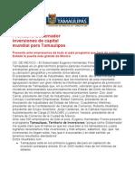Com0627, 090306 Promueve Eugenio Hernández inversiones de capital mundial.