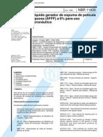 NBR 11830_95 (EB-2129) - CANC - Líquido Gerador de Espuma de Película Aquosa (AFFF) a 6% Para Uso Aeronáutico - 7pag