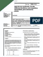NBR 11851_91 (EB-2151) - Chapas de Aço Acalmado, De Alta Resistência Mecânica, Com Requisitos de Tenacidade, Para Estruturas Soldadas - 4pag