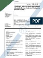 NBR 11853_91 (EB-2153) - CANC - Cabos Para Autoveículos Com Isolação Extrudada de Cloreto de Polivinila, Para Tensões Até 300V - 10pag