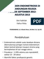 Profil Pasien Endometriosis Di Poli Kandungan Rsudza Periode