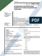 NBR 11856_92 (EB-2156) - CANC - Ferramentas e Acessórios Para Trabalhos Em Redes Energizadas de Distribuição - 14pag