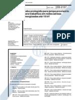 NBR 11857_91 (EB-2157) - Cabo Protegidos Para Jampe Provisório Para Trabalhos Em Redes Aéreas Energizadas Até 15kV - 9pag