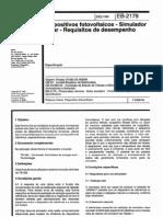 NBR 11879_91 (EB-2179) - CANC - Dispositivos Fotovoltaicos - Simulador Solar - Requisitos de Desempenho - 3pag
