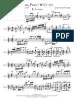 Suite Numero 7 HWV 432 Oberture