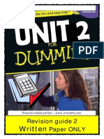 REVISION GUIDE Unit 2 Written Dummy Pack 2011 v2