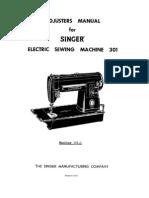 Singer 301 Adjusters Manual