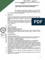 Normas técnicas para los concursos excepcionales de reubicación de docentes en las escalas magisteriales.