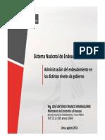 Sistema Nacional de Endeudamiento - Mg. José Antonio Franco