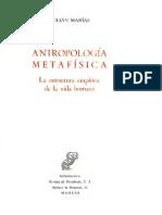Antropología Metafísica Por Julián Marías