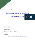 Manual de Servicio a Clientes