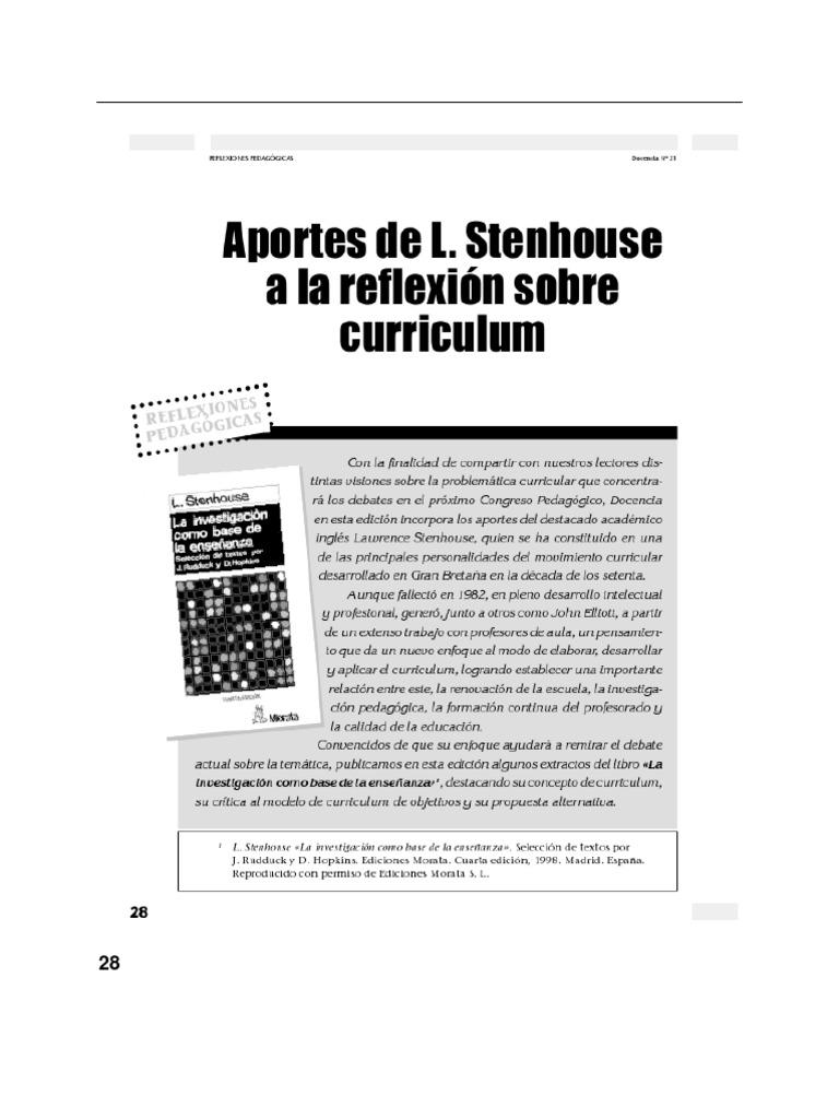 Aportes de L. Stenhouse a La Reflexión Sobre Currículo.pdf