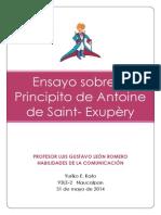 Ensayo Sobre El Principito de Antoine de Saint