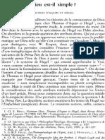 Emilio Brito Sj, Dieu Est-il Simple Thomas d'Aquin Et Hegel NRT 110-4 (1988) p.514-536 Emilio Brito Sj